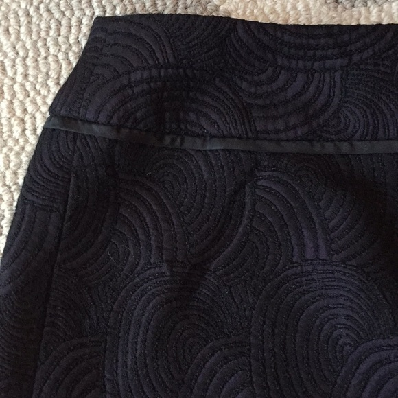 Ann Taylor Dresses & Skirts - Ann Taylor embroidered purple & black mini skirt